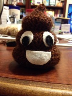 Free crochet pattern that I created for the poop emoji!