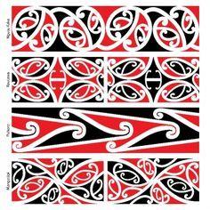 Use kowhaiwhai patterns to make Maori culture visible in your centre Maori Designs, Tatoo Designs, Tattoos Pulseras, Waitangi Day, Maori Symbols, Maori Patterns, Zealand Tattoo, Polynesian Art, Polynesian Tattoos