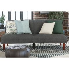 avenue greene paxson grey linen futon   overstock   shopping   the best deals on futons   rumpus room   pinterest   linens apartments and living rooms avenue greene paxson grey linen futon   overstock   shopping      rh   pinterest