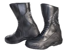 The bonded leather outer and water resistant construction makes the Spyke Pathfinder Boot a 'must have' for all motorcycle riders. A quality product from Spyke; the Pathfinder comes with zip and velcro closure for the perfect fit. Mens Motorcycle Boots, Cheap Boots, Combat Boots, Men's Boots, Bonded Leather, Boots For Sale, Black Leather Boots, Perfect Fit, Shoes