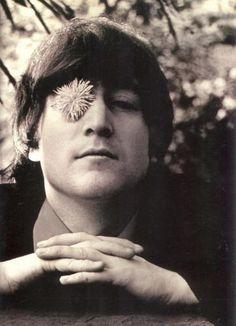 John Lennon, the flower child