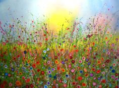 'Your love gets sweeter every day that passes' by Yvonne Coomber, 160x120cm, £3850 from www.lyndhurstgallery.co.uk