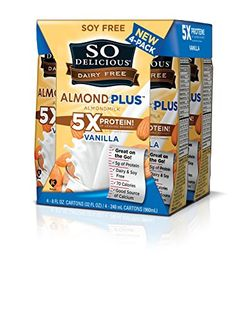 So Delicious Vanilla Almond Milk, Shelf Stable, 4 -8oz. (Pack of 6) -- Want to know more, click on the image.