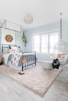 Black White Boho Tween Girl Room Decor