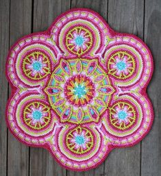Mandalas for Marinke has received so many great crochet mandala contributions , and the deadline has been extended so even more people can participate. I suggested that people use Wink's mandala ...