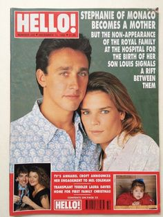 Hello Magazine 232 1992 Princess Stephanie Monaco Baby Elle Macpherson Caroline…
