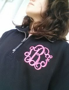 Hey, I found this really awesome Etsy listing at https://www.etsy.com/listing/163088572/monogram-sweatshirt-quarter-zip-font