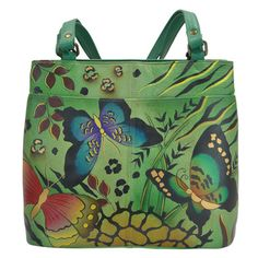 Painted Bags, Hand Painted, Painting Leather, Tote Handbags, Tote Purse, Tote Bags, Wallets For Women, Butterfly, Animal