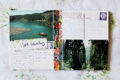 Pour faire des pages avec deux cartes postales.