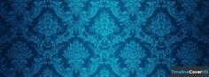 Bright Blue Floral Pattern Facebook Cover Timeline Banner For Fb41 Facebook Cover