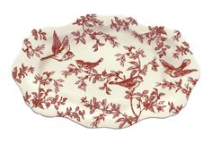 Red Bird Toile Platter on One Kings Lane today