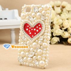 Fashion design 3D iphone 4 case Pearl iphone case by Veasoon, $32.99