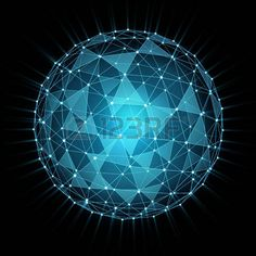 composed of a triangle: sphere composed by triangle shapes. digitally generated…