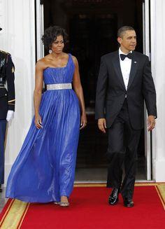 Michelle Obama Bad Outfits | michelle obama robe bleue barack