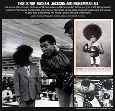 This is not Michael Jackson and Muhammad Ali