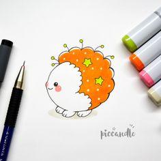 Cute Character Doodle [Video] by PicCandle on DeviantArt Doodle 2, Doodle Books, Doodle Icon, Mini Doodle, Kawaii Drawings, Doodle Drawings, Cartoon Drawings, Doodle Characters, Cute Characters