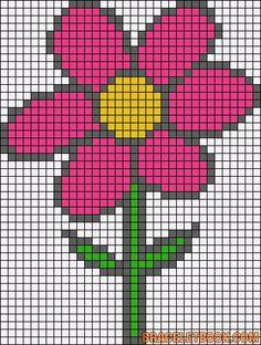 Spring flower perler bead pattern