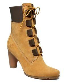 Women Timberland High Heel Boots | Timberland Boots , Women's Premium Round  Heel Boot Women's Shoes