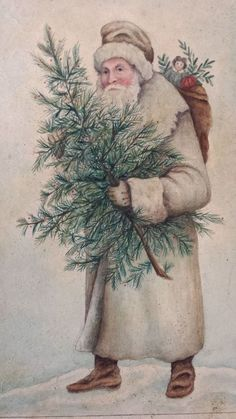 Watercolor by Anne Childs in the style of the old German diecuts. Vintage Christmas Images, Christmas Photos, Vintage Images, White Christmas, Christmas Diy, Christmas Cards, Merry Christmas, Christmas Decorations, Christmas Ornaments