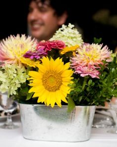 """See the """"Locally Grown Centerpiece"""" in our Elegant and Inexpensive Wedding Flower Ideas gallery"""