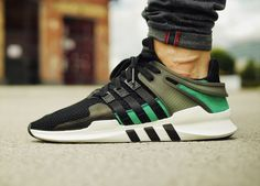 Adidas EQT Support ADV - Core Black/Sub Green (by sneakerkult)