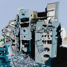 "Saatchi Art Artist Noa Charuvi; Painting, ""Untitled (Blues)"" #art"