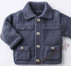 trendy sewing patterns for kids boys vest Baby Boy Knitting Patterns, Baby Cardigan Knitting Pattern, Sewing Patterns For Kids, Knitting For Kids, Cardigan Bebe, Crochet Baby Sweaters, Knitted Baby, Knit Baby Dress, Kids Boys
