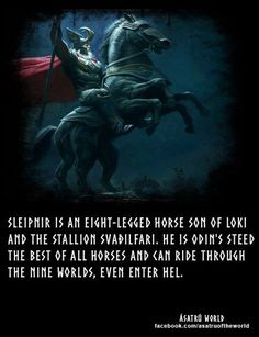 Why does Loki sleep with everything? Even a Stallion…he had a baby with a mal… – Norse Mythology-Vikings-Tattoo Norse Pagan, Old Norse, Norse Goddess, Norse Symbols, Loki Norse Mythology, Thor Norse, Mythological Creatures, Mythical Creatures, Viking Facts