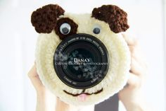 Puppy Camera Lens Buddy - Crochet - Handmade - Photography Prop - Kids - Children - Gift by DanasCrochetShop on Etsy https://www.etsy.com/ca/listing/290131601/puppy-camera-lens-buddy-crochet-handmade