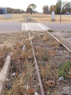 Farmrail tracks in Erick Oklahoma.