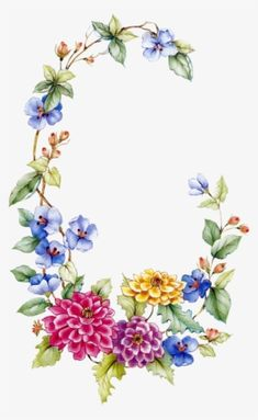 Floral Garland Borders And Frames, Vintage Flowers, - Oval Floral Frame Png Flower Border Png, Floral Border, Flower Borders, Flower Frame Png, Art Floral, Floral Watercolor, Floral Design, Vintage Diy, Vintage Images