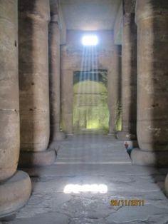 Edfu Temple ~ let the light shine in