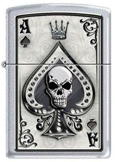 Ace Skull Card Zippo Lighter *** Be sure to check out this awesome product. (This is an affiliate link) #CampingandHikingSafetyandSurvival