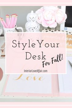 learn exactly which items you need to decorate or style your desk for fall! Seasonal Decor, Fall Decor, E Design, Interior Design, Season Quotes, Velvet Pumpkins, Pumpkin Decorating, Love Affair, I Fall
