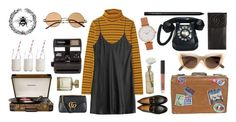 """Untitled #595"" by seetheotheroceans ❤ liked on Polyvore featuring Uniqlo, La Perla, Gucci, Crosley, Cultural Intrigue, Polaroid, Dress My Cupcake, Olivia Burton, Quay and Chanel"