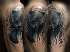 Nice Panda Bear Tattoo For Men