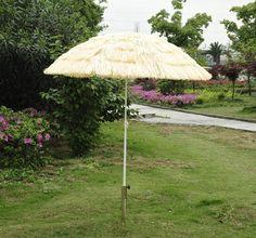 Outsunny Portable Tiki Thatch Beach Patio Umbrella, 6 Feet