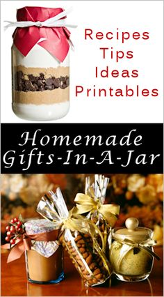 tons of gift in a jar ideas