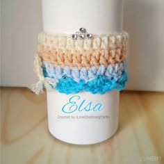 Check out this item in my Etsy shop https://www.etsy.com/listing/510699490/elsa-frozen-coffee-cup-cozy-cup-cozy