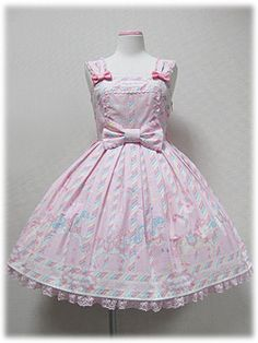 Angelic Pretty / Jumper Skirt / Sugary Carnival JSK in Pink