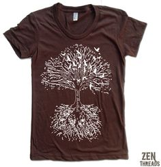 Zen Threads offers customizable urban t-shirts, vintage t-shirts, retro t-shirts, rock t-shirts, and urban apparel. Vintage soft tees hand printed for you! Tree Of Life Quotes, Rock T Shirts, Everyday Dresses, Urban Outfits, American Apparel, Roots, My Style, Zen, Mens Tops