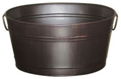 Oval Beverage Bin, Oil Rubbed Bronze-20 Fantastic Cheerful Ideas for Christmas Tree Skirts