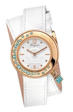 Salvatore Ferragamo Invierno 2013 #New #Watch #JockeyPlaza #White #Golden