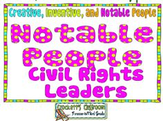 This unit focuses on civil rights leaders, includes activities for two… Writing Activities, Classroom Activities, Teaching Resources, Teaching Ideas, Informational Texts, Nonfiction, Civil Rights Leaders, Opinion Writing, Text Features