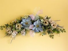 New Flower Swag Magnolia Anemone Lilac French by tlgsilkfloral, $49.95