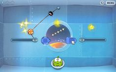 Cut the Rope created by ZeptoLab. Purpose: feed a small green creature named Om Nom with candies meanwhile collecting stars and passing difficult levels. It is teaching you to think all the possible strategy in order to make the creature receive the candy.Teaches it by you making the cuts of the rope that are holding the candy. Possible subject: Physics A)Topic-3 B)Strategy-6 C)Coordination-4 D)Teamwork-0 E)Thinking-4 F)Story-0