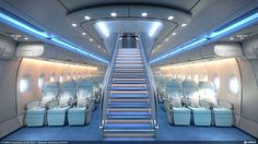 """Airbus is developing its proposals for a nine-abreast premium economy cabin to airlines as part of what it calls 'cabin enablers', and which it is suggesting """"to boost revenue"""" for its aircraft. Jets Privés De Luxe, Luxury Jets, Luxury Private Jets, Private Plane, Airbus A380, A380 Aircraft, Air Company, Airplane Interior, Airplane Bedroom"""