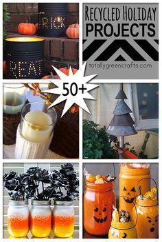 50+ Recycled Holiday Crafts to make @totgreencrafts1 via @savedbyloves