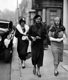 On their way to a Society Wedding, London, 1933,photo from The Daily Mail viamaudelynn