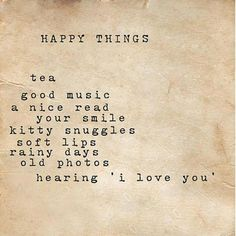 every reason I am always happy